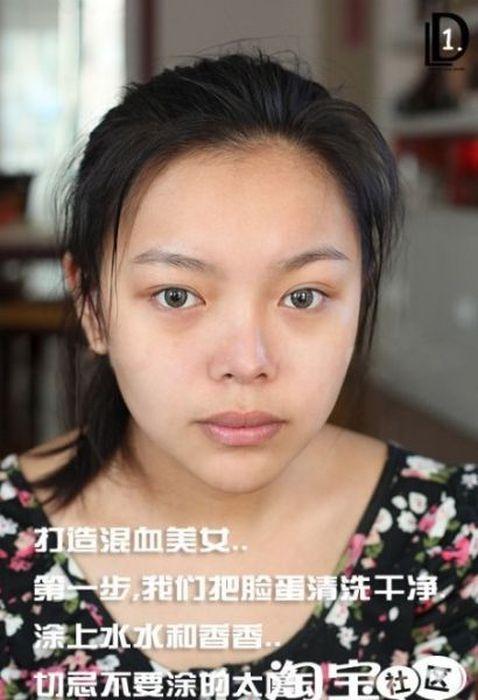 Gatinhas asiáticas antes e depois da maquiagem 2 01