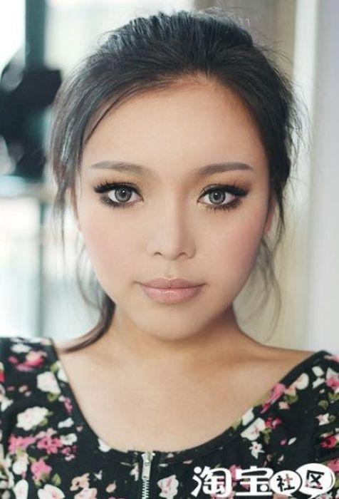 Gatinhas asiáticas antes e depois da maquiagem 2 13