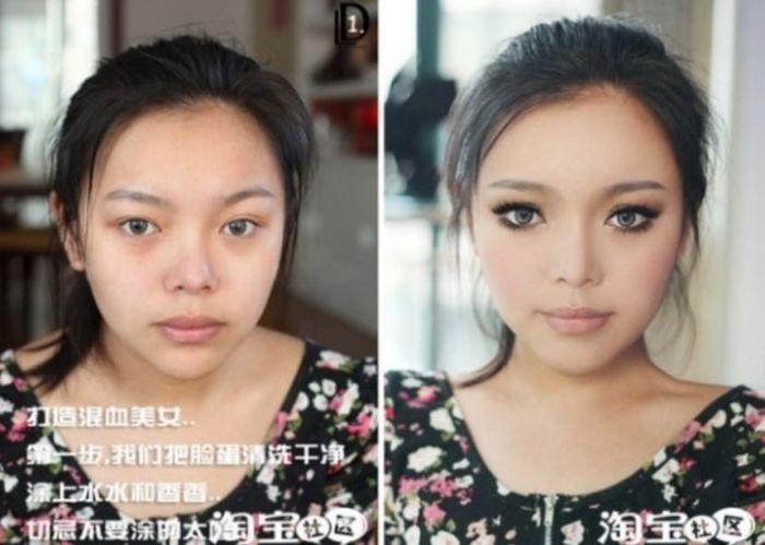Gatinhas asiáticas antes e depois da maquiagem 2 15