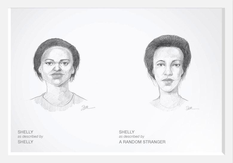 Experimento com artista do esboço prova que as mulheres são mais bonitas do que pensam 01