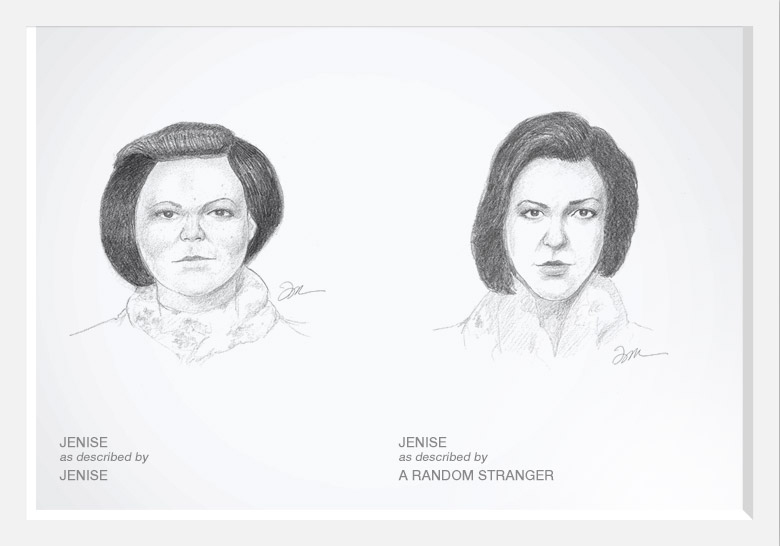 Experimento com artista do esboço prova que as mulheres são mais bonitas do que pensam 03