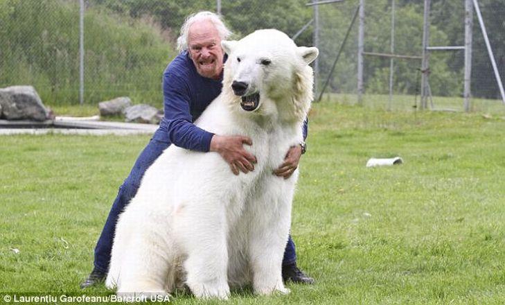 Mark e o urso polar Agee, uma amizade invejável 06