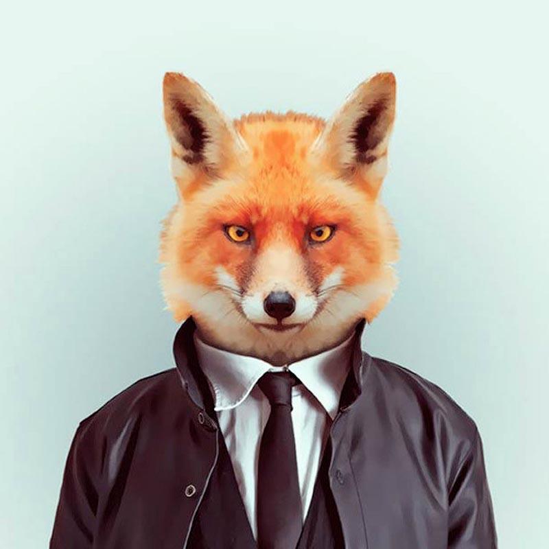 Engraçados retratos de animais vestidos como seres humanos 15