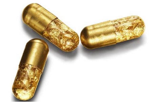 Pilulas de ouro 24k permite aos viciados em luxo fazerem coco dourado