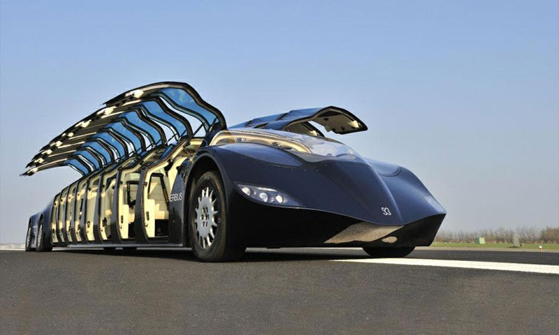 Ônibus de alta velocidade pretende inovar na indústria do transporte pessoal 01