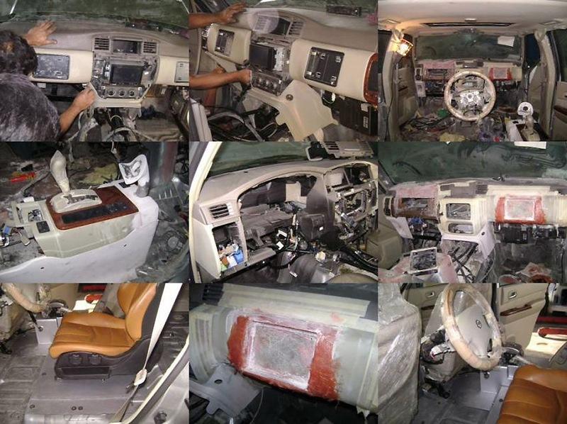 Carro tunado com direção no banco traseiro 12