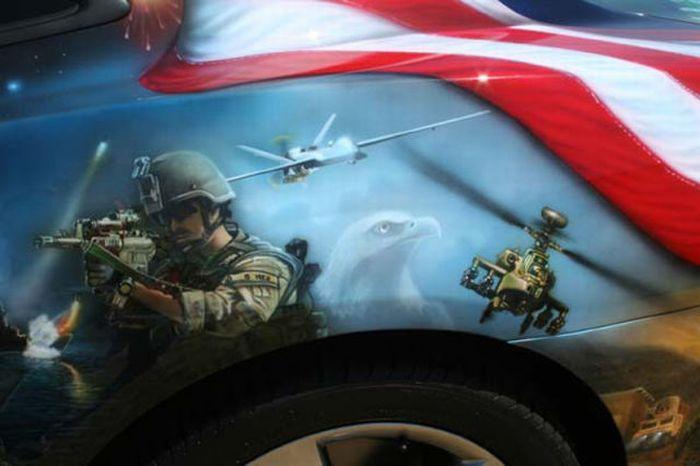 O carro mas patriota dos EUA 03