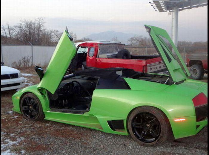 Americano bate Lamborghini que ganhou em concurso 02