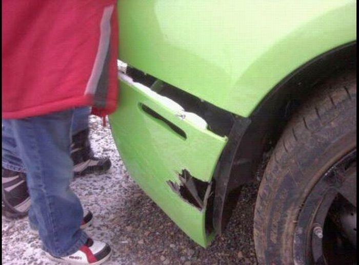 Americano bate Lamborghini que ganhou em concurso 04