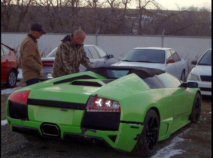 Americano bate Lamborghini que ganhou em concurso 06