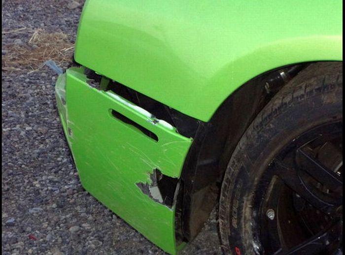 Americano bate Lamborghini que ganhou em concurso 08