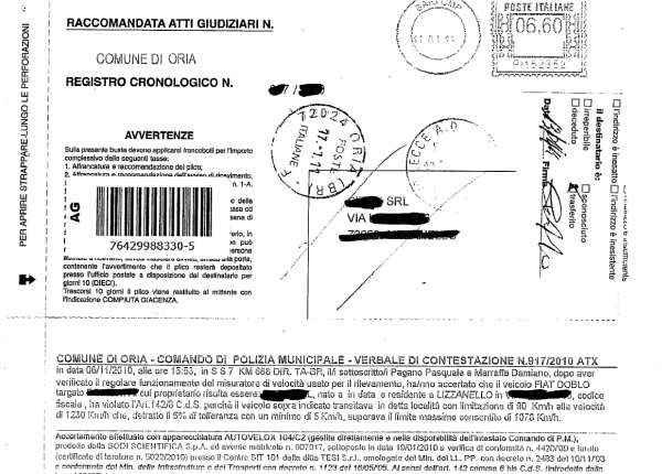 Motorista italiano multado por circular a 1.230 quilômetros por hora