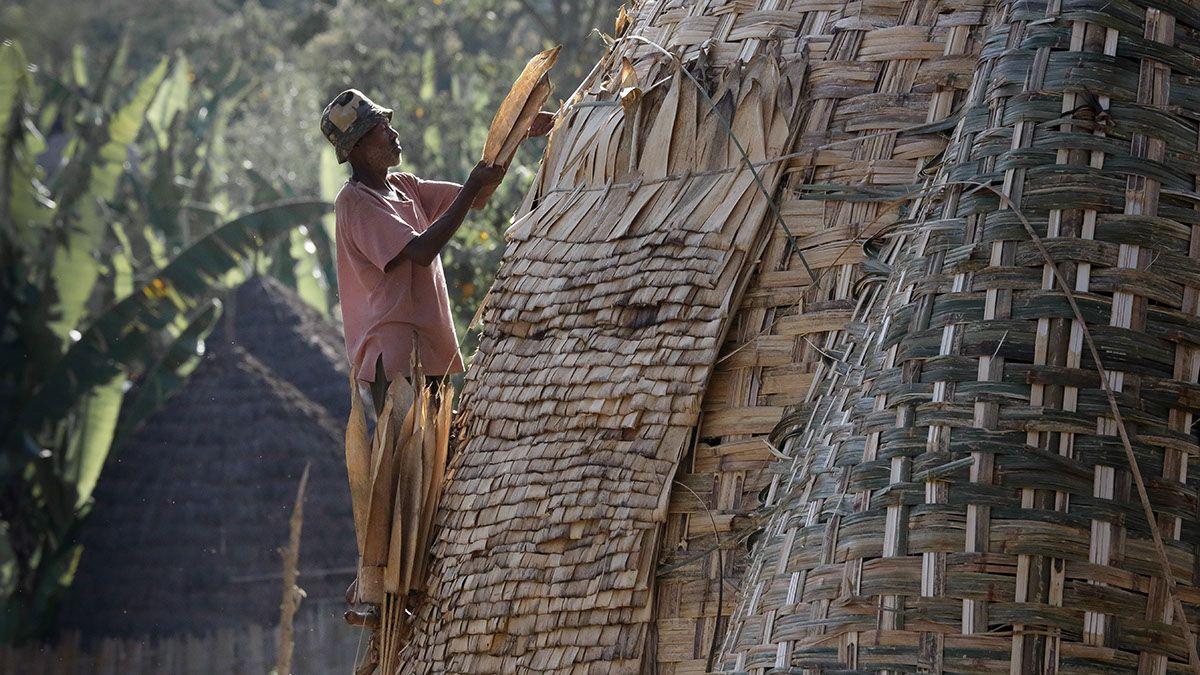 As cabanas de bambu trançado do povo Dorze, na Etiópia