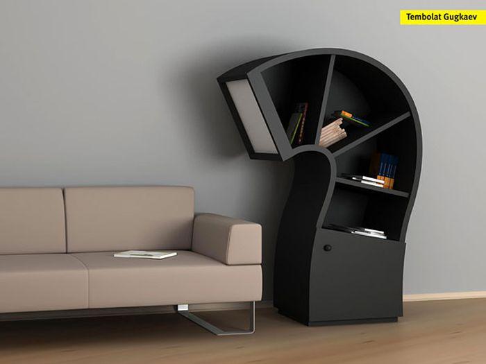 Designs criativos de estantes e aparadores 01
