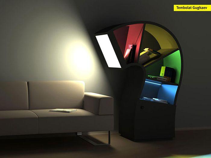 Designs criativos de estantes e aparadores 02