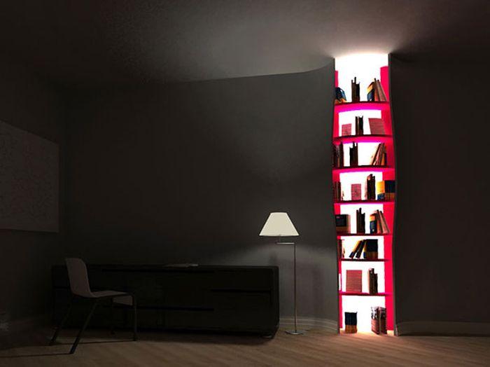 Designs criativos de estantes e aparadores 08