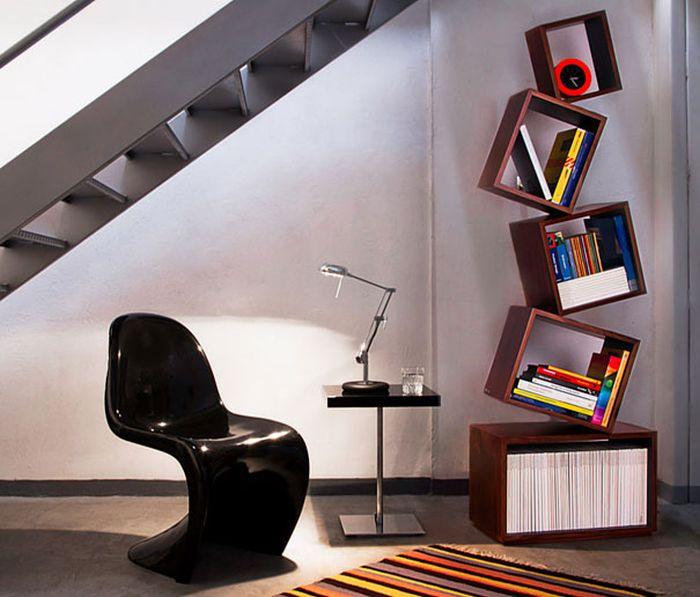 Designs criativos de estantes e aparadores 10