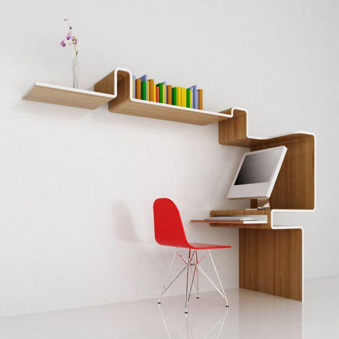 Designs criativos de estantes e aparadores 20