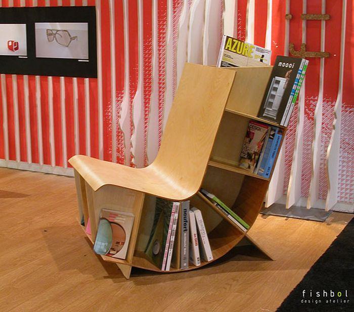 Designs criativos de estantes e aparadores 22