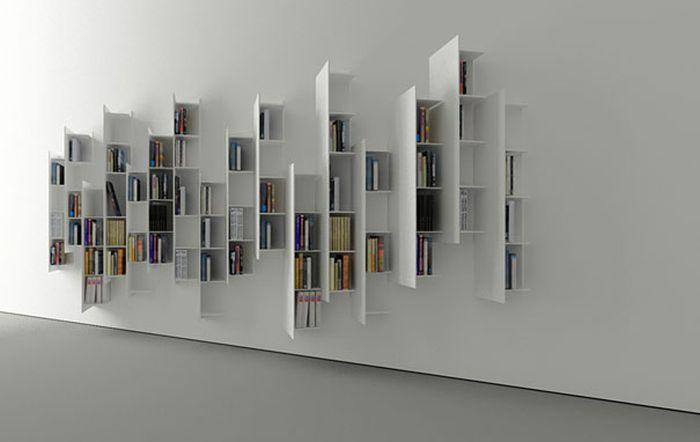 Designs criativos de estantes e aparadores 26