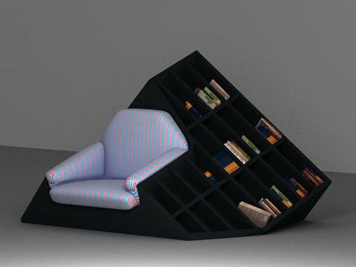 Designs criativos de estantes e aparadores 27