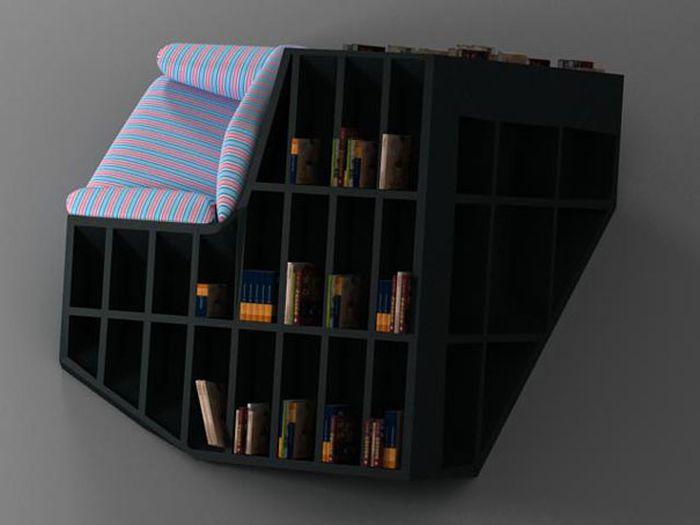 Designs criativos de estantes e aparadores 28