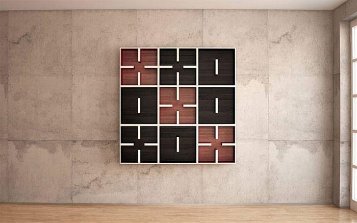 Designs criativos de estantes e aparadores 30