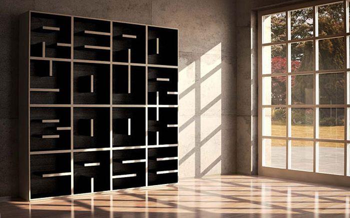 Designs criativos de estantes e aparadores 31