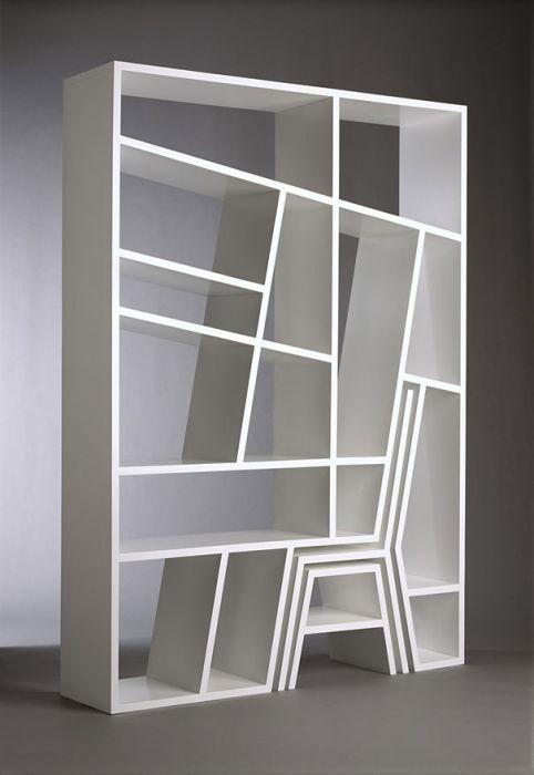 Designs criativos de estantes e aparadores 32
