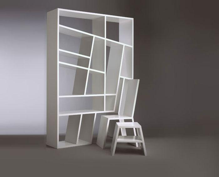 Designs criativos de estantes e aparadores 33