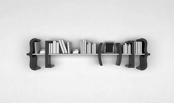 Designs criativos de estantes e aparadores 34