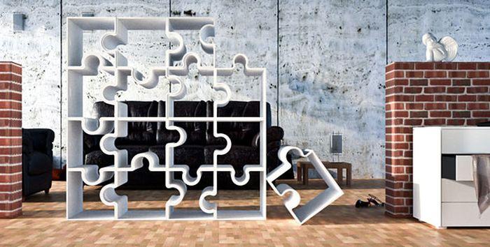 Designs criativos de estantes e aparadores 37