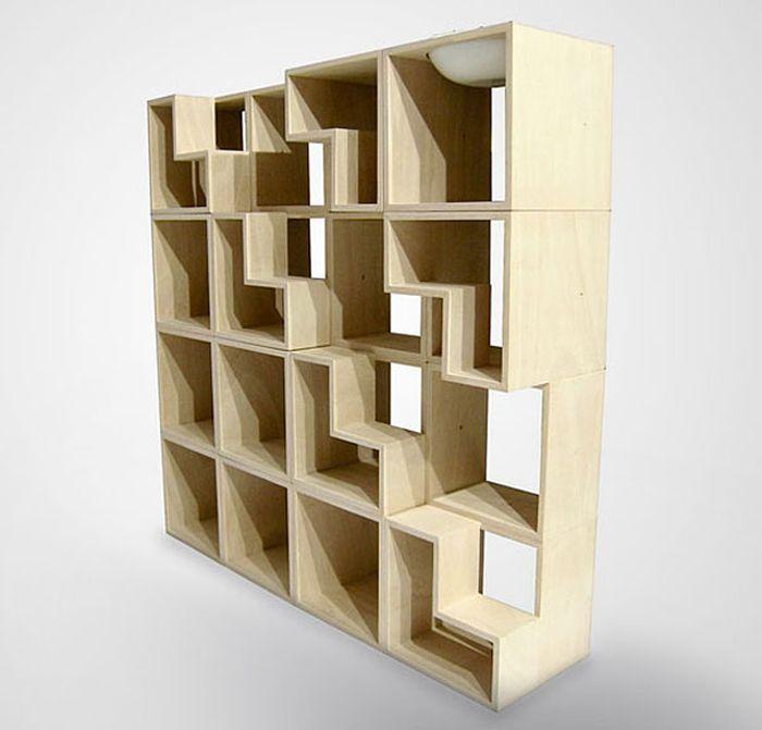 Designs criativos de estantes e aparadores 39
