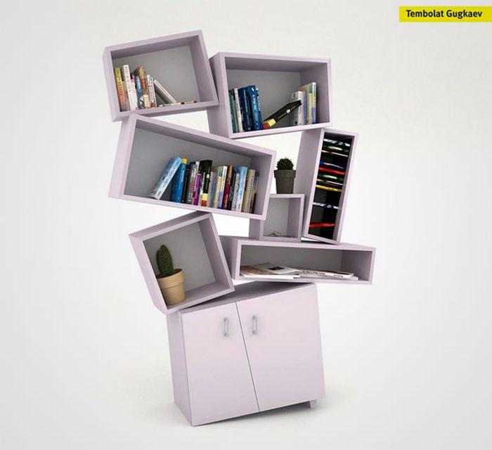 Designs criativos de estantes e aparadores 40