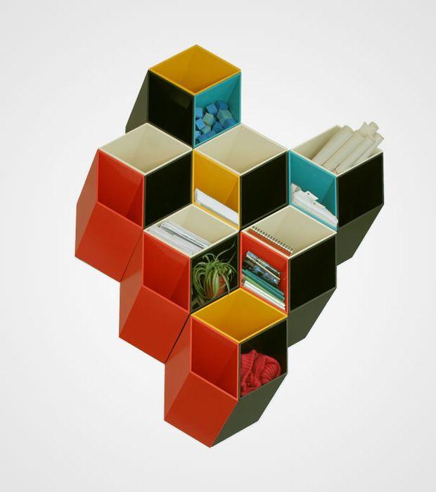 Designs criativos de estantes e aparadores 41