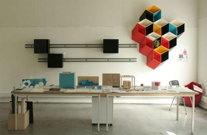 Designs criativos de estantes e aparadores 42
