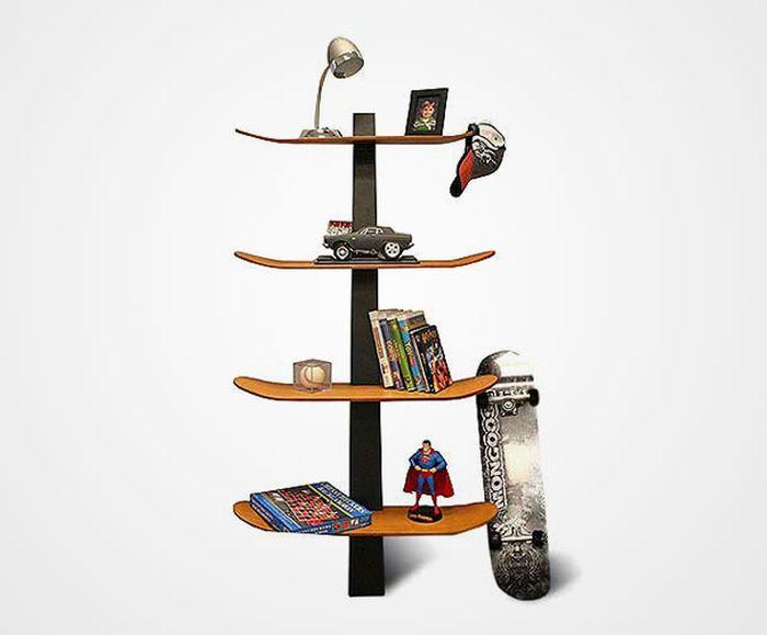 Designs criativos de estantes e aparadores 43