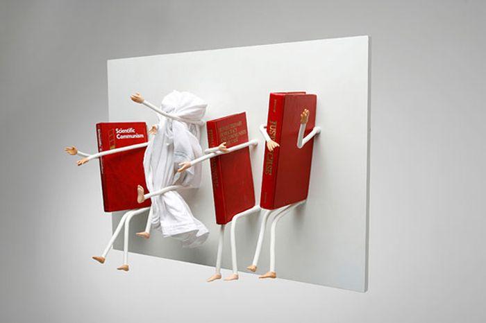 Designs criativos de estantes e aparadores 44