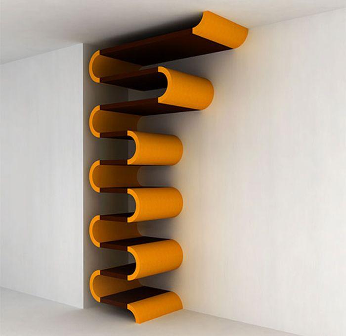 Designs criativos de estantes e aparadores 47