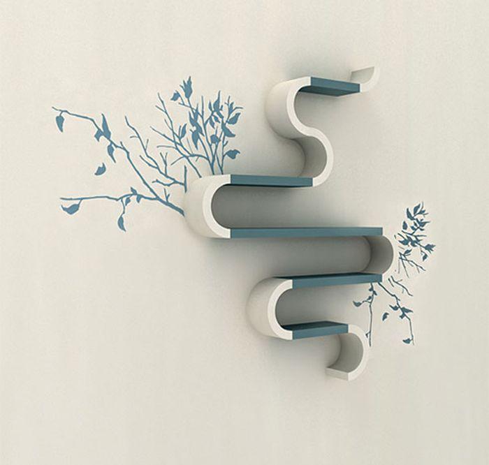 Designs criativos de estantes e aparadores 48