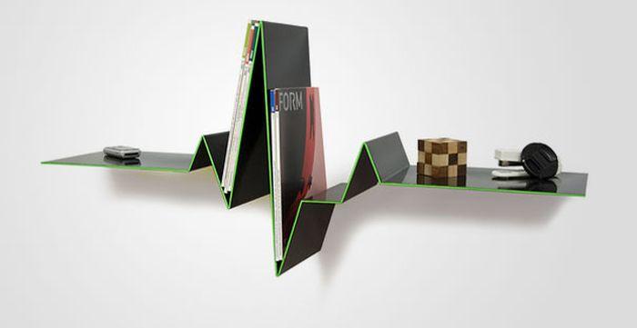 Designs criativos de estantes e aparadores 54