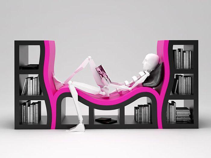 Designs criativos de estantes e aparadores 58
