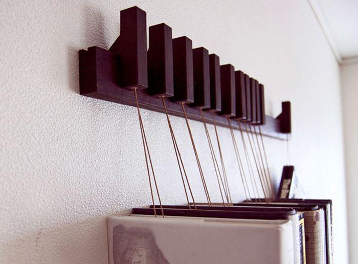 Designs criativos de estantes e aparadores 60