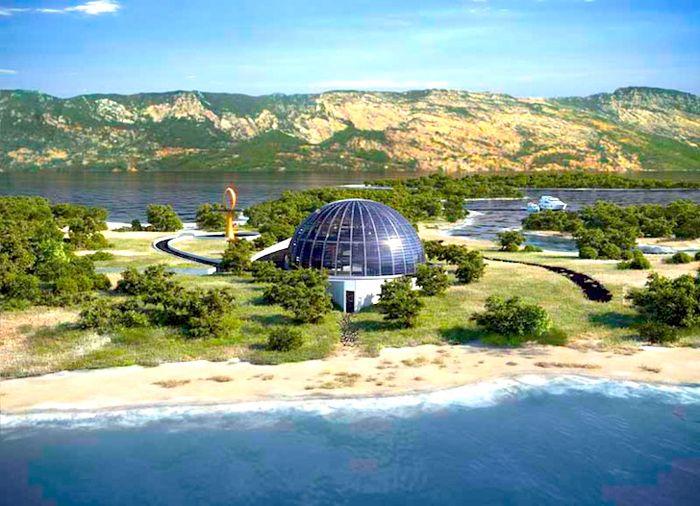Uma eco-casa para Naomi Campbell