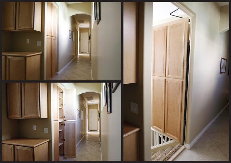 Impressionantes passagens secretas em residências 36
