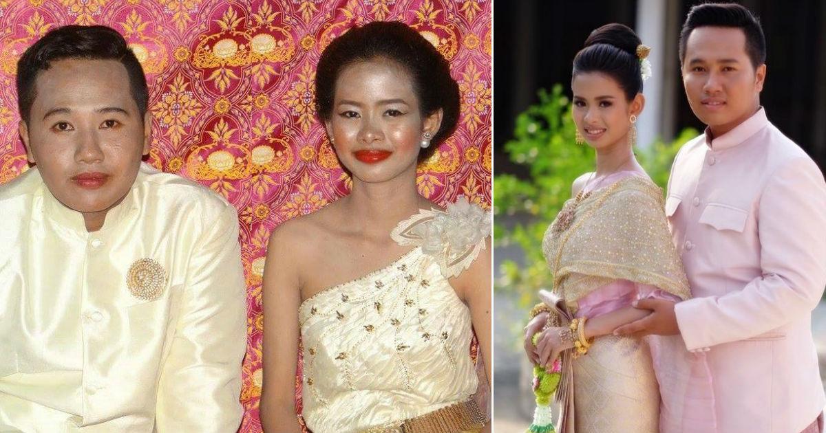 Noiva tailandesa com maquiagem horrorosa ganha nova sessão de fotos de um famoso fotógrafo gentil 01