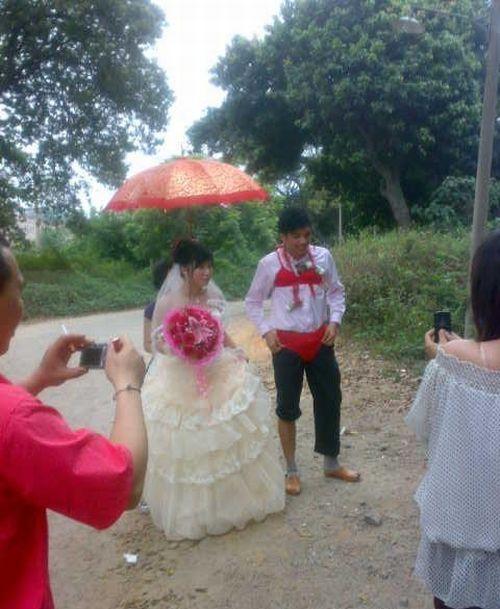 Celebração da banana no casamento chinês 01