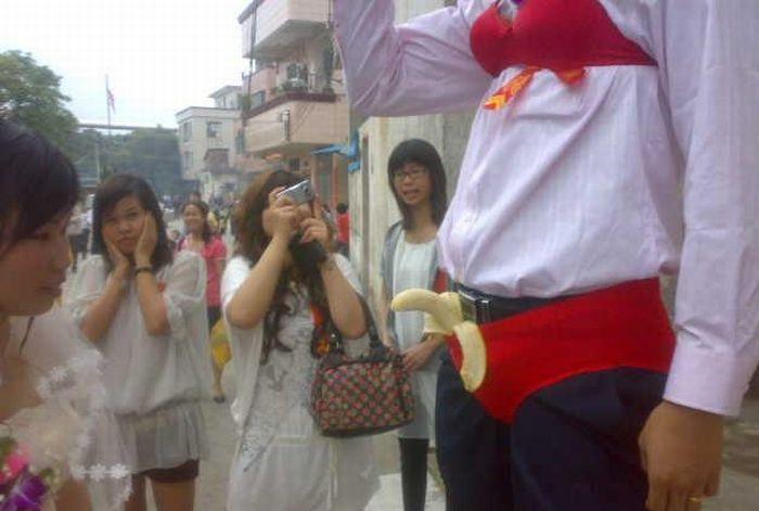 Celebração da banana no casamento chinês 02