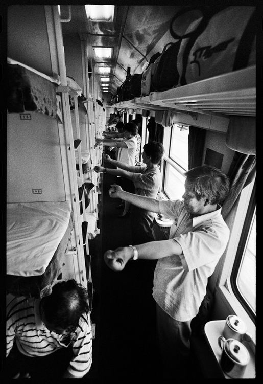 Os chineses no trem  20