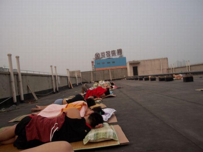 Como os estudantes chineses enfrentam a onda de calor 01